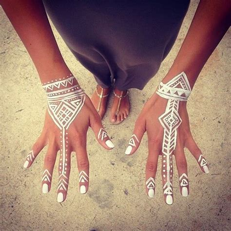 17 best ideas about white henna on henna