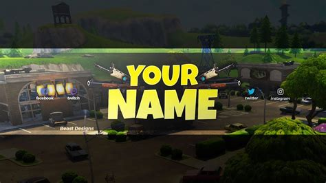 template banner fortnite new free 2018 fortnite banner template free fortnite