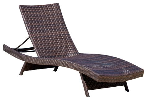 Outdoor Chaise Lounge Chair Lakeport Outdoor Lounge Chair Contemporary Outdoor Chaise Lounges By Gdfstudio