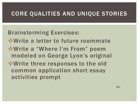 Gw Application Essay by Communicating Their Stories Strategies For Helping Students Write Po