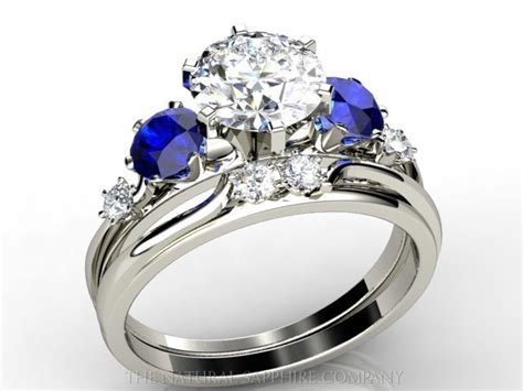 and blue sapphire engagement rings fashion