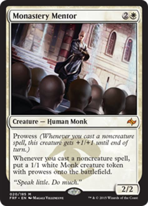 The Monk Who Cast A Spell monastery mentor fate reforged gatherer magic the