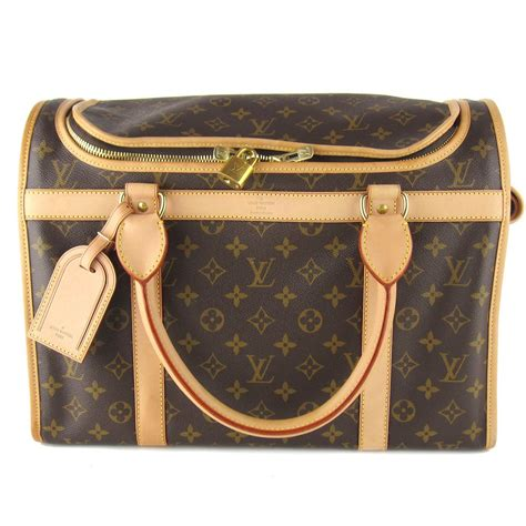louis vuitton monogram dog carrier  bag mint