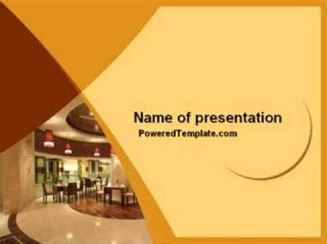 Hotel Restaurant Powerpoint Template By Poweredtemplate Hotel Powerpoint Presentation Templates