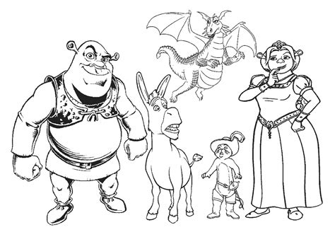 Printable Shrek Coloring Pages Coloring Me Shrek Coloring Pages