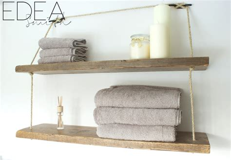 Diy Reclaimed Wood Bathroom Shelves Edea Smith Wooden Bathroom Shelving