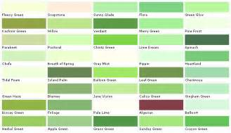 green color chart green auto paint color chart