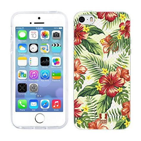 designs hawaiian tropical prints gel back cover for apple iphone 5 5s techie