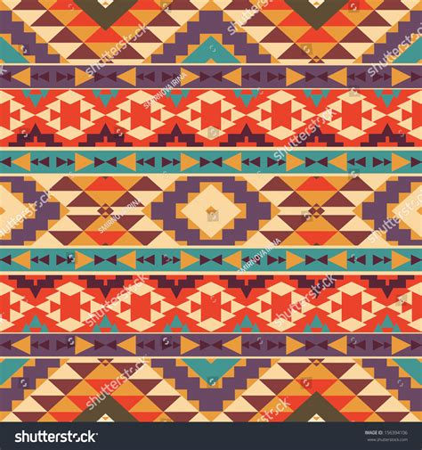 seamless aztec pattern seamless colorful aztec pattern stock vector 156394106