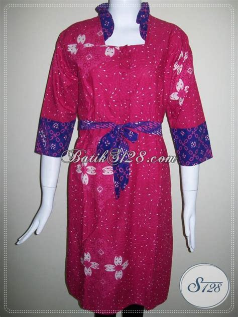La Dress Wanita by Baju Dress Batik Berkaret Belakang Batik Untuk Wanita