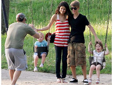 justin bieber biography his family selena gomez meets justin bieber s family