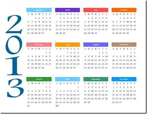 printable yearly calendars 2013 printable new year 2013 calendars