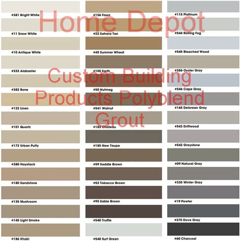 grout colors home depot home tips home depot grout colors for interior or