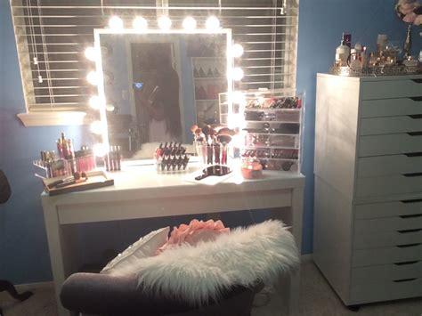 Makeup Vanity Table With Lighted Mirror Diy Diy Vanity Inspired Mirror 2015 Easy