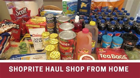 shoprite haul using shop from home deal
