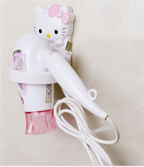 kawaii bathroom accessories hello plastic hair dryer