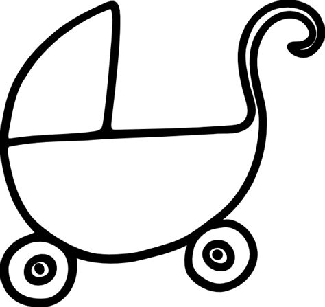 Outline Of A Carriage by Baby Carriage Stroller Outline Clip At Clker Vector Clip Royalty Free