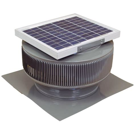 roof mounted exhaust fan active ventilation 365 cfm mill finish 5 watt solar