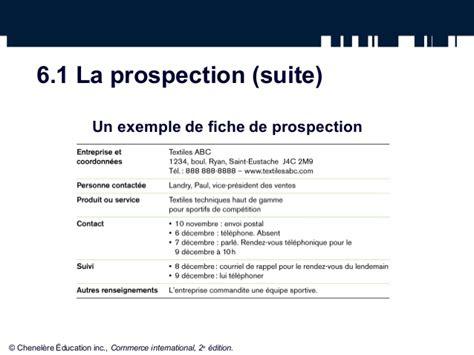 la prospection et l adaptation du produit