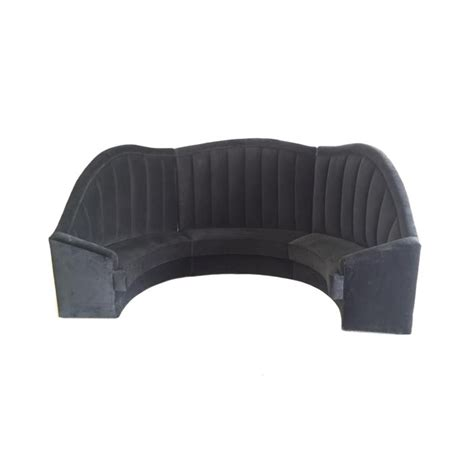 Black Banquette by Luxury Event Furniture Hire New Arrivals