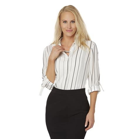 Button Front Blouse polyester button front blouse kmart
