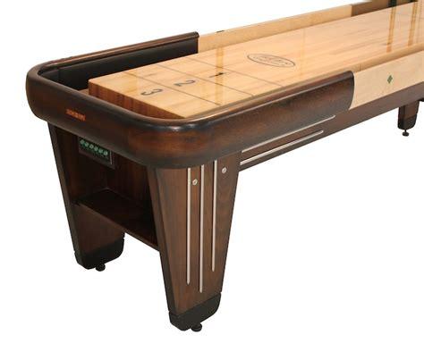 best wood for shuffleboard table rock ola 16 foot shuffleboard in solid walnut maple