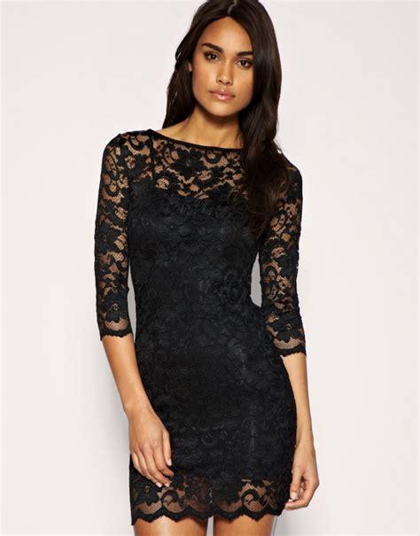 black lace black lace prom dress trendy dress
