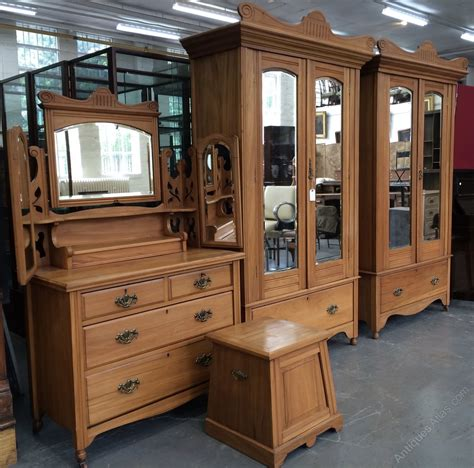 edwardian bedroom furniture satin walnut edwardian bedroom suite antiques atlas