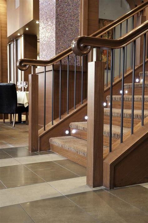 Custom Wood Handrails For Stairs crafted custom wood stair railing enhances upscale