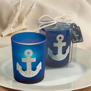 Nautical Theme Favors by Spectacular Anchor Design Candle Favors Nautical Baby