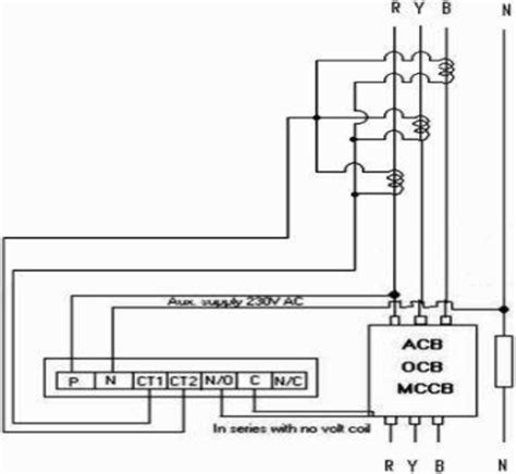 earth leakage relay wiring diagram earth get free image