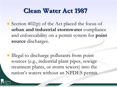 section 402 clean water act past present and future trends