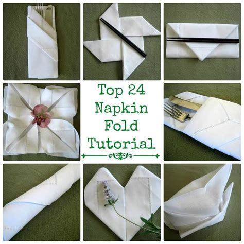 25 unique how to fold napkins ideas on