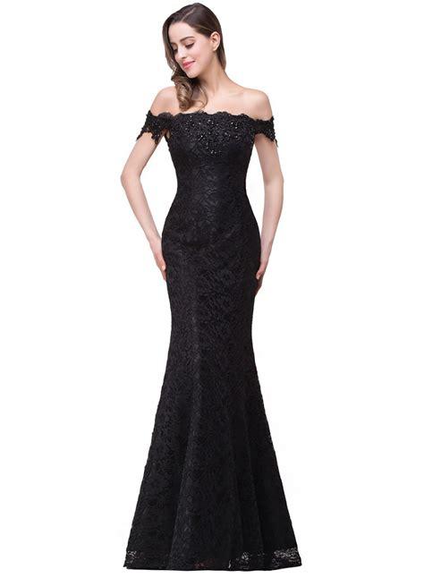 shoulder lace evening mermaid dress azbro