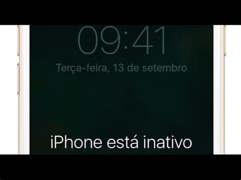 iphone esta inativo conecte ao itunes iphone 4 5 6 7
