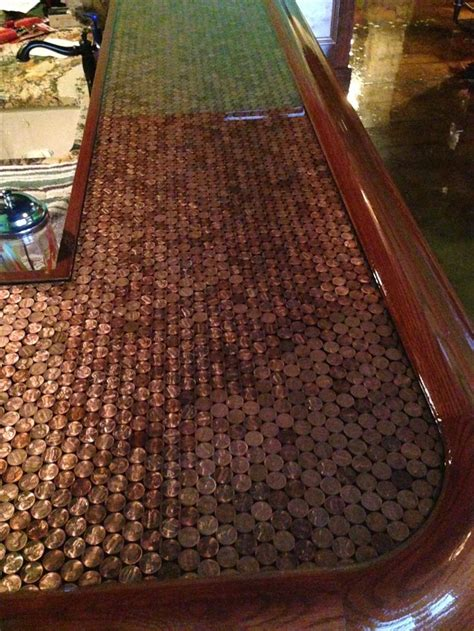 penny bar top 1000 ideas about penny countertop on pinterest penny
