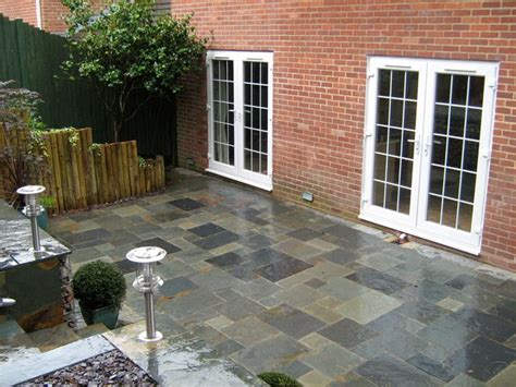 Slate Patio Designs Slate Patio Backyard Ideas Pinterest