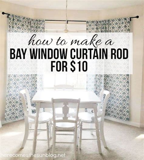 how to hang curtains in a bay window diy bay window curtain rod for less than 10