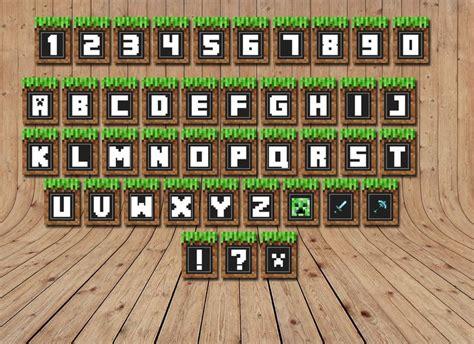 printable happy birthday minecraft banner happy birthday minecraft font google search templates