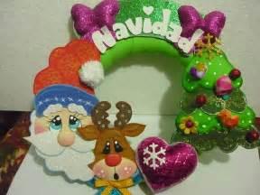 moldes para corona de navidad manualidades hermosa corona de navidad moldes manualidades en goma