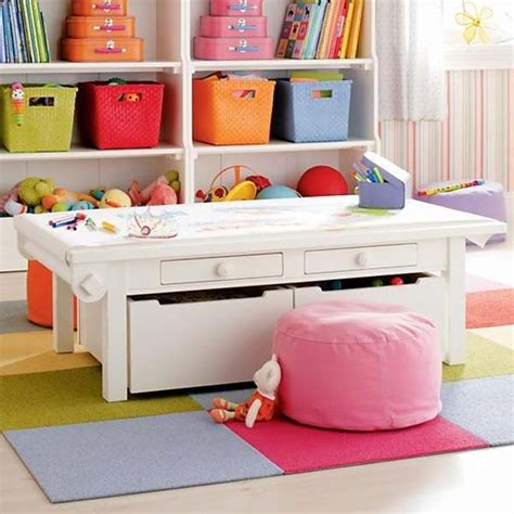 Train Set And Table For Toddlers - 28 smart tips tricks and hacks to organize your child s room beautifully