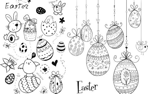 doodle drawing vector easter doodles vector vector graphics