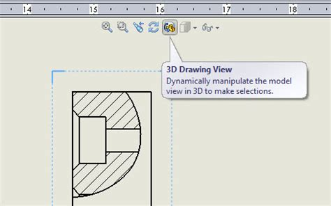 solidworks rotate section view visually determine the depth of a broken out section in a
