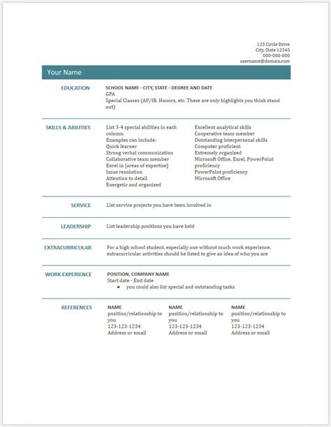 14 microsoft resume templates free samples examples format