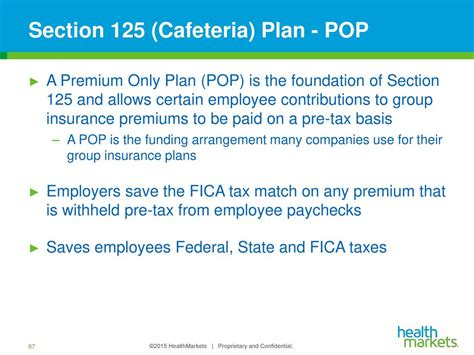 premium only plan section 125 employer insurance 101 the basics ppt download