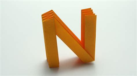 Origami Letter I - origami letter n