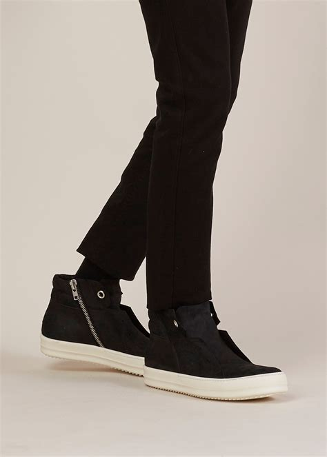 white rick owens sneakers rick owens black white island dunk sneaker in black for