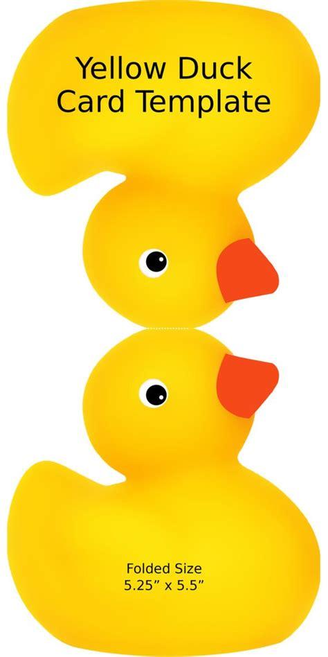 boston ducks card template digital yellow duck card template birthday shower invite