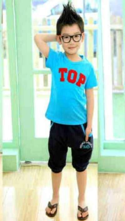 Setelan Baju Anak Laki Soul baju anak laki biru setelan