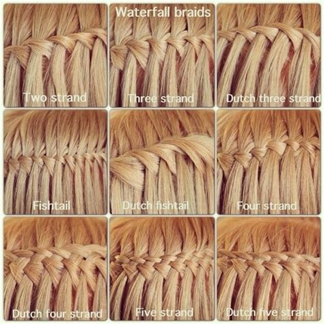 different kinds of braids step by step 19 different types of waterfall braids 43 fancy braided